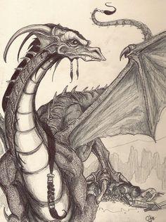 Realistic Dragon Drawing, Dragon Drawings, Dragon Bones, Bearded Dragon, Dragons, Art, Art Background, Kunst, Performing Arts