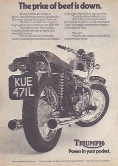 Manufacturer Triumph Detail T120 Bonneville 650 ndash Original Advert Size A4 Colour B W Year 1973 Reference