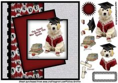 Cute Dog with graduation Hat QC on Craftsuprint - Add To Basket!