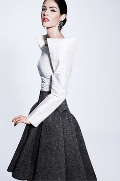 Very similar to Pierre Cardin's high shoulders from 1981. Zac Posen Pre-Fall 2012