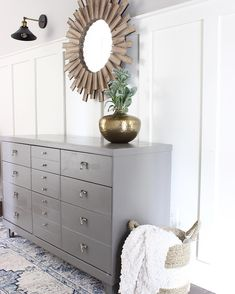 Making a Bold Statement With Wallpaper.On the Ceiling Gauntlet Gray, Mid-century Modern, Modern Design, Wallpaper Ceiling, Traditional Design, Painted Furniture, Family Room, Kids Room, House Design