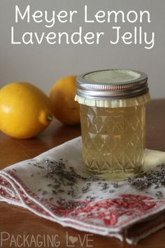 Combine seasonal citrus with herbs for a delicious preserve that is great with toast and makes great gifts too with Meyer Lemon Lavender Jelly.