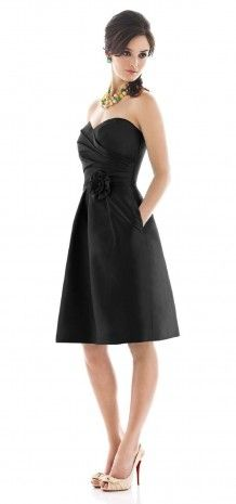 Bridesmaid Dress-black$59.99. Maybe in navy blue or red