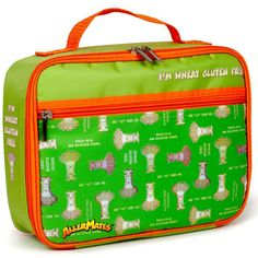 I'm Wheat Gluten Free  Lunch Bag (GREEN). These AllerMates lunch bags are a great way to alert canteen / school staff to your child's allergies. Snack Bags, Lunch Bags, Gluten Free Weight Loss, What Is Gluten Free, Medical Bag, Wheat Gluten, Gluten Free Living, Nut Free, Pill Boxes
