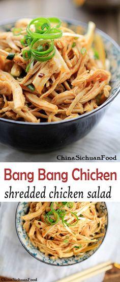 Bang Bang Chicken-shredded chicken salad | China Sichuan Food