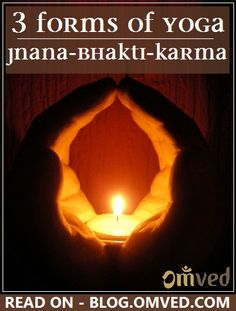 YOGA comes from the sanskrit word denoting Union; the meeting of the atman - soul with Brahman - the Universal energy. Three Yogic paths for elevating one to this platform of spiritual synergy or consciousness are delineated in the Vedas: karma, jnana and bhakti. Click to read more.