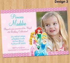 Disney Princess Invitation  Disney Princess by KidsPartyPrintables, $9.99