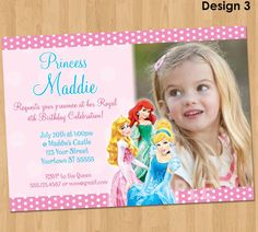 Disney Princess Invitation  Disney Princess by KidsPartyPrintables, $9.99