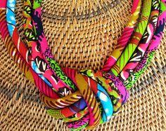 Collar multi-Masai  collar colorido babero rosado caliente