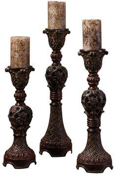 Rosina Candlesticks- set of 3