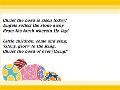 Happy Easter Poems 2018 For Students Kids Children Jesus Short Easter Poems For Churches Short Easter Poems for Kids Childrens Toddlers Kindergarten Adults Easter Songs For Kids, Easter Poems, Kids Songs, Easter Play, Easter Prayers, Easter Messages, Easter Hunt, Easter Stuff, Spring Art Projects