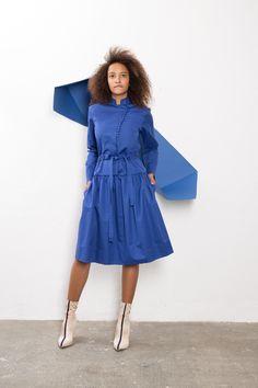 IMRECZEOVA SS18 blue shirt dress with button fastening 60 Degrees, Blue Shirt Dress, Deep Winter, Button, Shirts, Dresses, Fashion, Vestidos, Moda