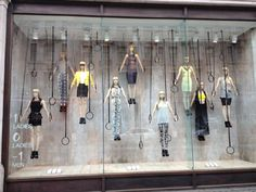 a wonderful H and M display in London depicting the Olympic gymnastics