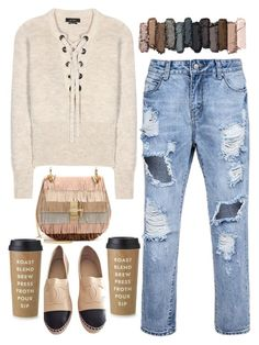 """street style"" by ecem1 ❤ liked on Polyvore featuring Mode, Isabel Marant, Chloé, Chanel, Urban Decay und Kate Spade"