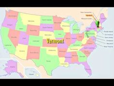 MUSIC will help you memorize the fifty states while watching a video of the state's locations on a map!