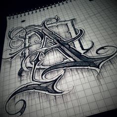 Tattoo Lettering Styles, Chicano Lettering, Graffiti Lettering, Lettering Design, Graffiti Art, Hand Lettering, Tattoo Fonts Alphabet, Letter A Tattoo, Bd Art