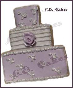 Purple Wedding Cookie