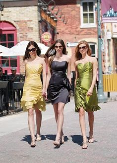 **dress on the left is cute** Left: N/A Middle: 20035 Right: N/A  Impression Bridesmaids: 20035