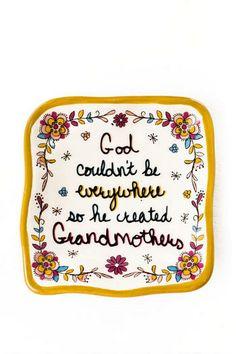 Why God Created Grandmothers Trinket Dish