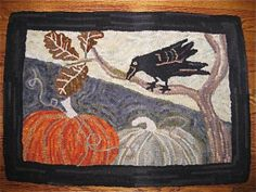 fantastic pumpkin and crow RUG