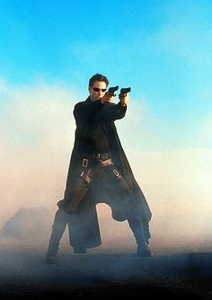 Sci-fi fashion: Keanu Reeves in The Matrix
