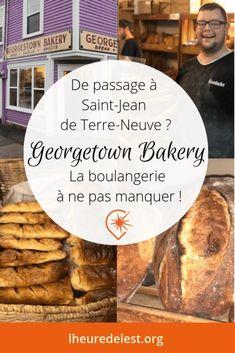 A Saint-Jean de Terre-Neuve on connait une excellente boulangerie artisanale. Un boulanger qui pétrit son pain, ça fait toute la différence ! #terreneuve #stjohns #boulangerieartisanale Bagels, Saint Jean, Macaron, C'est Bon, Pain, Canada, Beef, Artisans
