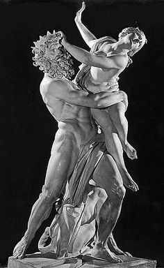 When a figure is pulling, rather than pushing all of the muscles are engaged. It is a much stronger pose which will carry more action in an image. The Rape of Proserpina. Bernini.