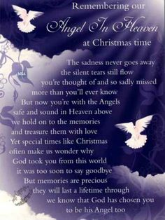 mom christmas in heaven poem | ... are Gone.org: POEM (Remembering Our Angel in Heaven at Christmas Time