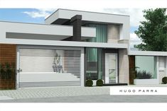 Jdl Desenhos: Residencia Projeto Hugo Parra Best Modern House Design, Small Modern Home, Modern Contemporary Homes, Minimalist House Design, Dream Home Design, Facade Design, Exterior Design, One Storey House, Modern Residential Architecture