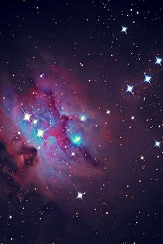 'Running Man' Nebula NGC 1973/5/7 is a reflection nebula 1/2 degree northeast of the Orion Nebula.- via Jen
