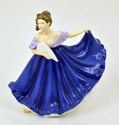 royal doulton figurines pretty ladies - Google Search--love it in cobalt!