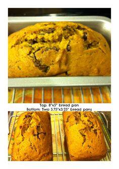 Chocolate Chip Pumpkin Bread.  YUM!!!