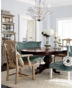 JH Marie Dining Table Brumley Banquette Country Armchairs By Jeff Zimmerman Collection Key City At Horchow