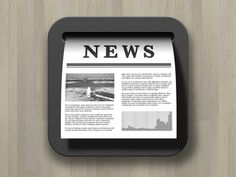 Dribbble - News Reader App Icon by Go Ando
