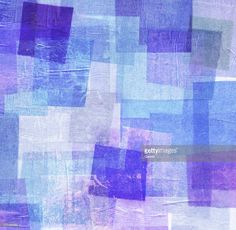 Stock Photo : Blue and Purple Tissue Paper Collage