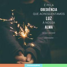 """""""A tua palavra é lâmpada para os meus pés, e luz para o meu caminho."""" Salmos 119:105 Acesse mormonsud.net"""
