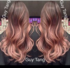 The best Rose Gold Ombre' by Guy Tang. He spent 9 hrs creating this color correction Mais