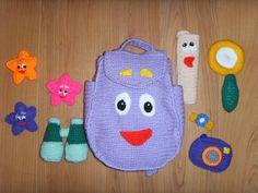 Dora the explorer. Backpack. http://www.ravelry.com/patterns/library/backpack-6