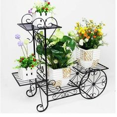 Iron flower stand French flower stand multi-layer balcony bicycle flower pot holder US $73.40