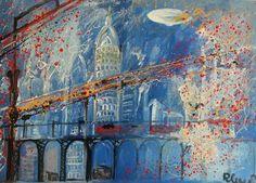 """Saatchi Art Artist Roberto Corso; Painting, """"Zeppelin"""" #art"""