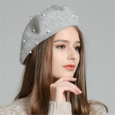 92ba6991fbb Peal french beret hat for women winter berets wool hat