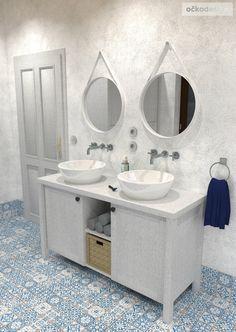 Rustikální / provensálská / středomořská koupelna.