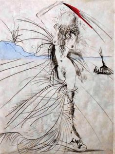 Salvador Dalí - Venus in Furs Art Pictures, Photos, Salvador Dali Art, Yarn Painting, Art Therapy Projects, Bizarre Art, Surrealism Painting, Spanish Artists, Art Moderne