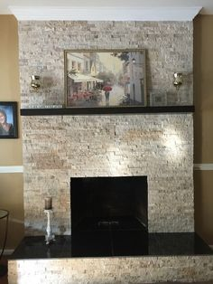 Fireplace stone tile - Torreon Stone Travertine Architectural Wall Tile https://www.tileshop.com/product/650085.do