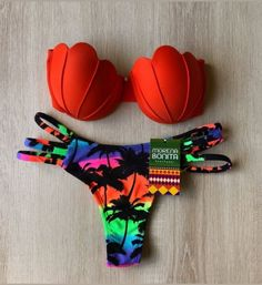 Buy Push up Padded Bikini Floral Printing Bottom Swimsuit 2 Piece Cute Swimsuits, Cute Bikinis, Swimwear Cover Ups, Bikini Swimwear, Jolie Lingerie, Women Lingerie, Swimwear Fashion, Bikini Fashion, Mode Du Bikini