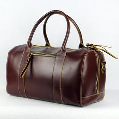 Handmade Leather Suitcase Bag, Man's Large Oil Wax Luggage Bag, Travel Bag ZR3515