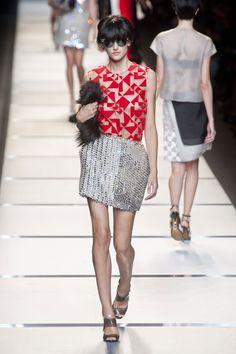 Fendi at Milan Fashion Week Spring 2014 - StyleBistro