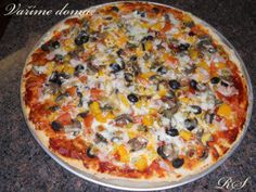 PIZZA na velký plech Vegetable Pizza, Quiche, Vegetables, Food, Toast, Essen, Quiches, Vegetable Recipes, Meals