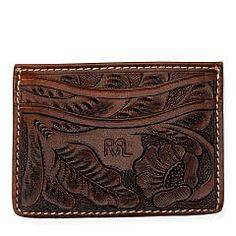 Tooled Leather Card Case - RRL Card Cases - RalphLauren.com