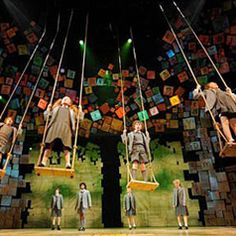 Matilda the musical. One of the funniest shows we've seen, and our Matilda was adorable. Really a stellar show that will do great if it goes to the US. Theatre Shows, Theatre Nerds, Musical Theatre, Arts Theatre, Broadway Theatre, Shakespeare Theatre, Royal Shakespeare Company, Matilda Broadway, Stage Design
